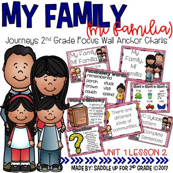 My Family Anchor Charts and Word Cards Journeys 2nd Grade