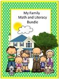 Family Bundle Prep Math Literacy Centers  Pre-K, K, Special Education Fine Motor