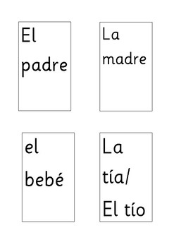 My Family Cards - Spanish