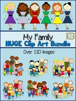 My Family Clip Art Bundle