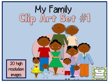My Family Clip Art Set #1