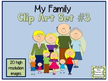 My Family Clip Art Set #3