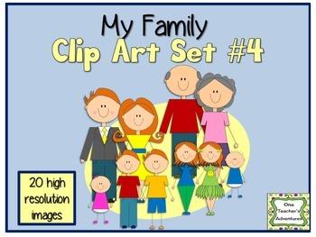 My Family Clip Art Set #4