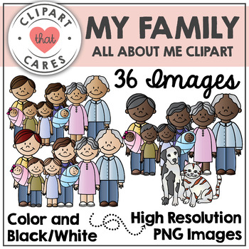 My Family Clipart By Clipart That Cares By Clipart That Cares Tpt