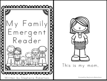 My Family Emergent Reader