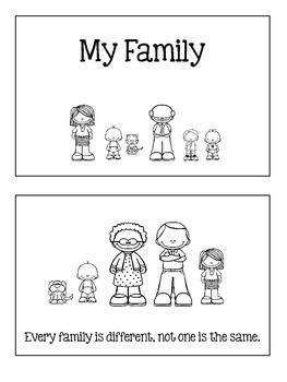 My Family Emergent Reader Mini Book