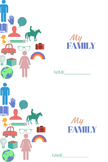 My Family- Family Day Booklet- 2 booklets per page