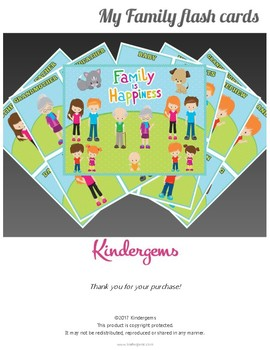 My Family Flashcards for Pre-k and Kindergarten (No Prep,