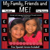 Family, Friends and Body Concepts -ESL Activities for ELL