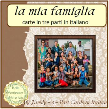 My Family - Italian 3 - Part Cards
