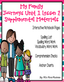 My Family Journeys Unit 1 Lesson 2