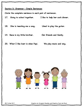 My Family ~ Language Arts Test ~ 2nd Grade ~ HMH Journeys