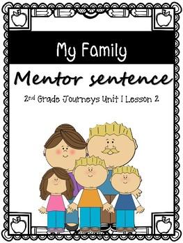 My Family Mi Familia Mentor Sentence Journeys 2nd Grade