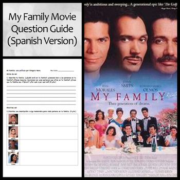 My Family (Mi Familia) Movie Guide and Questions: Spanish Version
