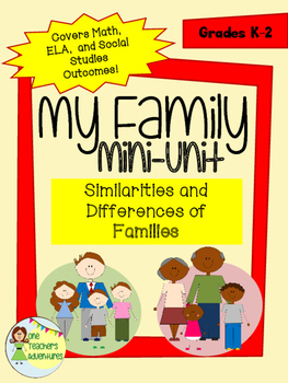My Family Mini-Unit - Covers Math, ELA, and Social Studies Outcomes for K-2