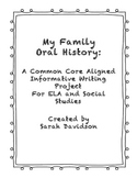 My Family Oral History Project
