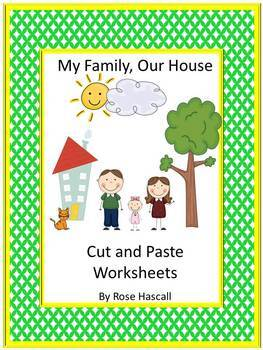 Family Kindergarten Special Education Autism Cut and Paste Fine Motor