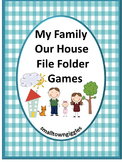 Family ,File Folder Games, Special Education, File Folder Games Preschool