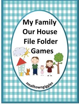 Family ,File Folder Games, Special Education, File Folder Games Preschool