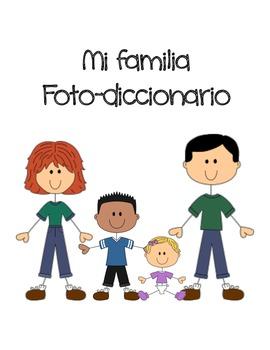 My Family Pictionary Spanish