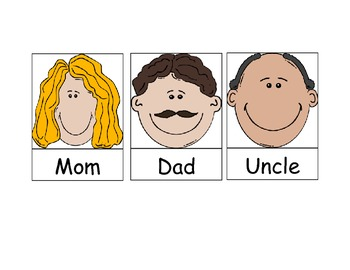 Family Pocket Chart Activity