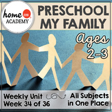 My Family Preschool Unit - Printables for Preschool, PreK, Homeschool Preschool