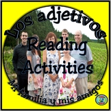 My Family Reading Comprehension Cloze Activity / Lectura d