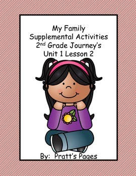 My Family Supplemental Activities for Journey's Unit 1 Lesson 2