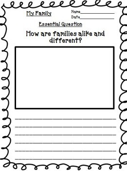 My Family Journeys 2nd Grade Unit 1 Lesson 2 Activities & Printables