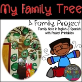My Family Tree (A Family Project) English and Spanish Parent Note