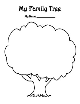 My Family Tree Template 686506 on English Worksheets For Kindergarten