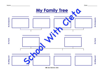 My Family Tree - Three & Four Generations With Up To Four Kids