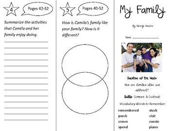 My Family Trifold - Journeys 2nd Grade Unit 1 Week 2 (2011)
