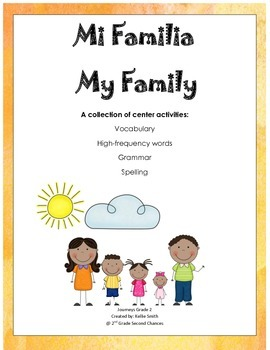 My Family Unit 2 Journeys 2nd Grade