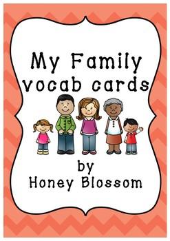 My Family Vocab Cards