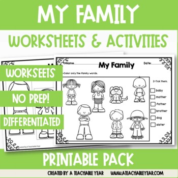 My Family Vocabulary Pack