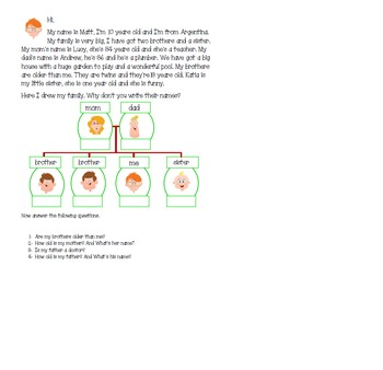 My Family--Vocabulary, verbs to be and have got