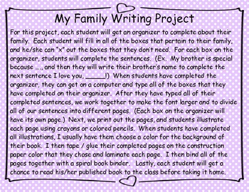My Family Writing Project