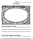My Family Writing Sheet