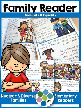 Reader: My Family and Friends - Nuclear & diverse family themed book