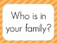 My Family and Me: McGraw-Hill Reading Wonders Resource