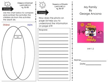 My Family by George Ancona- Journeys Common Core
