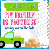 My Family is Moving Away Journal