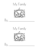 Sight Word Emergent Reader: My Family (mom, dad)