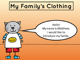 My Family's Clothing – Vocabulary Presentation and Reader – ESL Clothing Vocab
