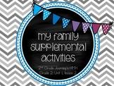 My Family supplemental activities - Journey's 2nd Grade Un