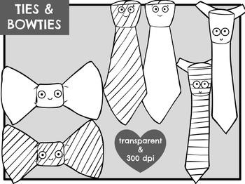 Ties & Bowties (Digital Clip Art)