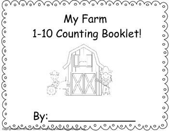 My Farm 1-10 Counting Book: tally, # word, #... by The Crazy Pre-K ...