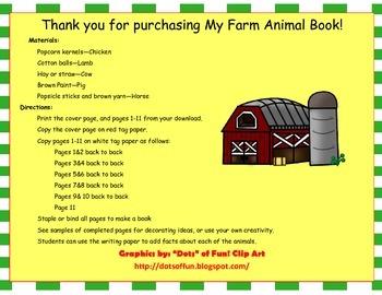 My Farm Animal Book