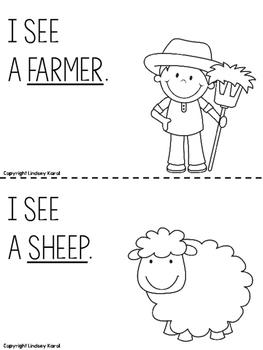 My Farm Book: Emergent Reader Freebie